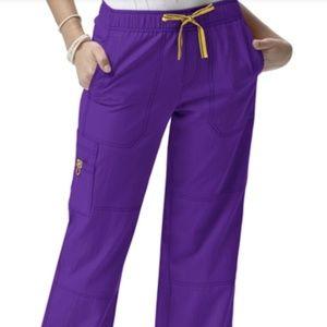 Purple Cargo Scrub Pants